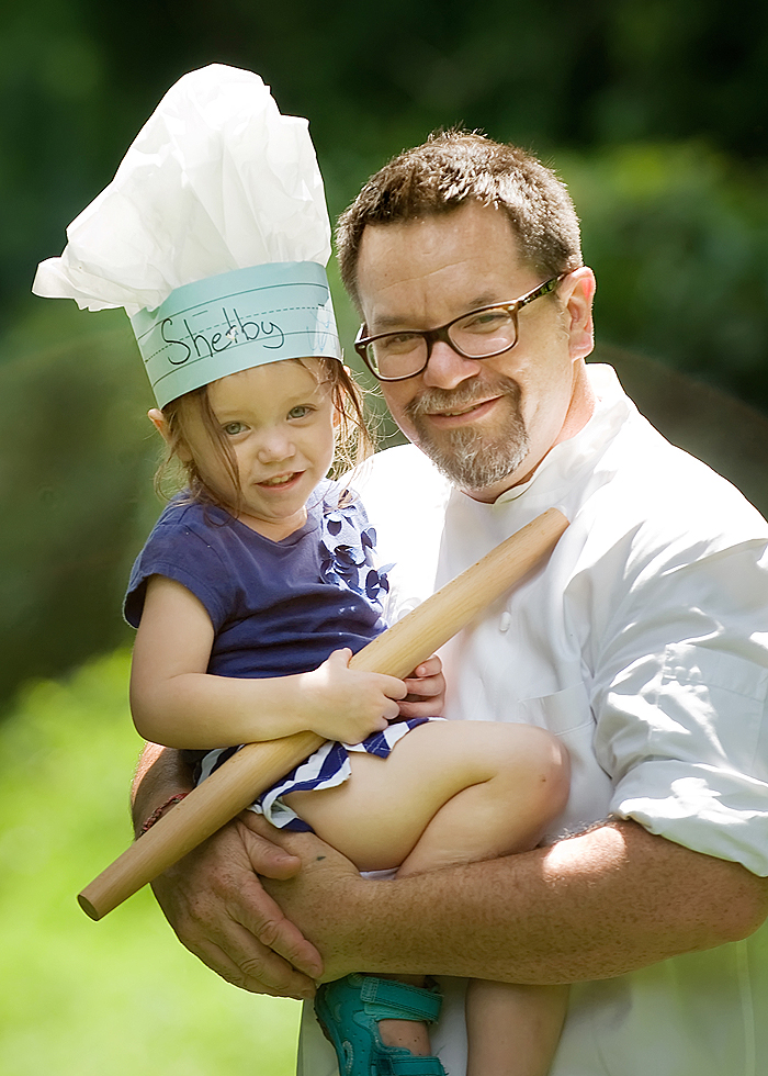 Chef Matthew with his daughter, Chef Shelby