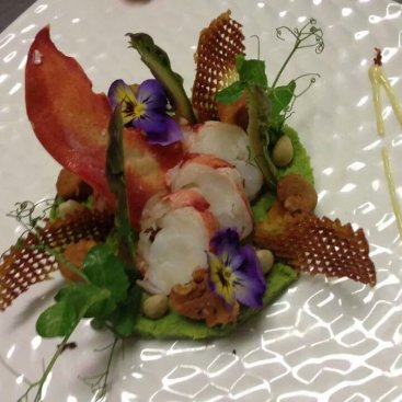 Maine Lobster Salad with Sweet Pea Mash